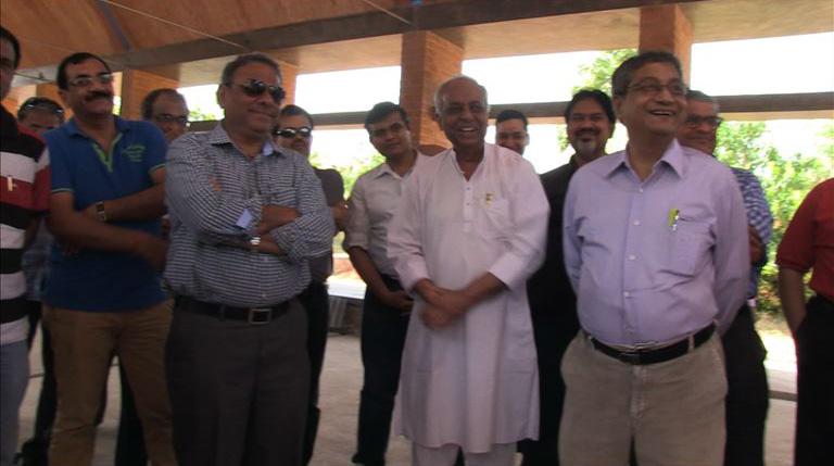 The FORBES team with Vijay bhai at SHARANAM