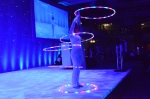 Hoop performance at the event
