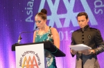 Event hosts DJ Lora and English cricketer Mark Ramprakash