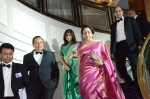 Grand entrance of Hema Malini, special guest, escorted by (L to R) L. George, COO, ABPL; Subhash Thaker, Vice President of Taj Hotels Resorts and Palaces and Chairperson of The Sarvam Trust; Shilpa Shah, Trustee of The Sarvam Trust; Nilesh Shah, Director of R.M. Shah Ltd.